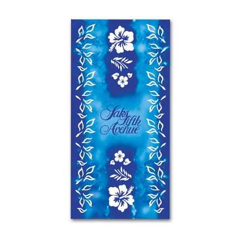 IK110- Blue Hibiscus - 30 x 60, 11 lb. Velour Stock Design