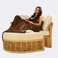 50 x 60 Micro Mink Sherpa Blanket with Hidden Zipper