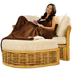 60 x 72 Oversized Sherpa Micro Mink Blanket with hidden zipper